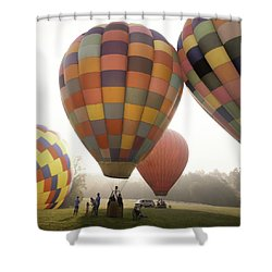 Balloon Day Is A Happy Day Shower Curtain by Rob Travis