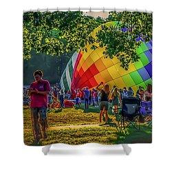 Shower Curtain featuring the photograph Balloon Fest Spirit by Kendall McKernon