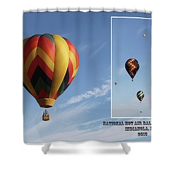 Balloon Festival Indianola, Iowa Shower Curtain