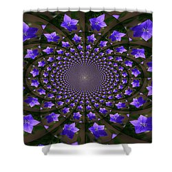 Balloon Flower Kaleidoscope Shower Curtain by Teresa Mucha
