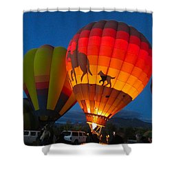 Balloon Glow Shower Curtain
