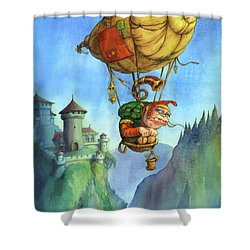 Balloon Ogre Shower Curtain by Andy Catling