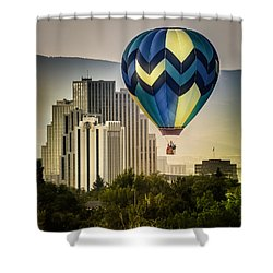 Balloon Over Reno Shower Curtain
