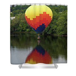 Balloon Reflections Shower Curtain