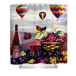 Balloon Ride At Dawn Shower Curtain by Ron Chambers