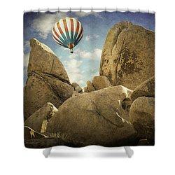 Ballooning In Joshua Tree Shower Curtain
