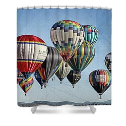 Ballooning Shower Curtain by Marie Leslie