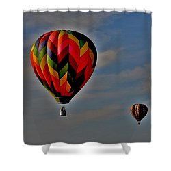 Balloons In The Sky Shower Curtain