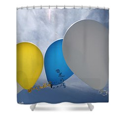 Balloons Shower Curtain by Patrick M Lynch