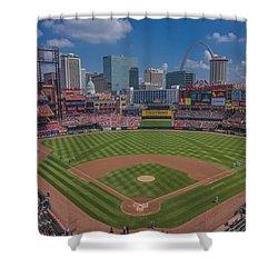 Ballpark Village Cardinal Nation Busch Stadum St. Louis Cardinals April 2015 #2 Shower Curtain