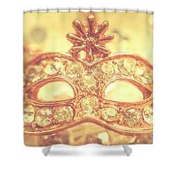 Ballroom Glitter Shower Curtain