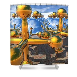 Balls And Jacks II Shower Curtain