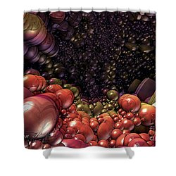 Ballsville Shower Curtain by Melissa Messick