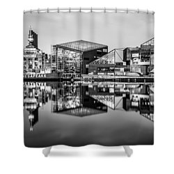 Baltimore In Black And White Shower Curtain