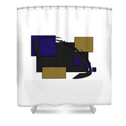 Baltimore Ravens Abstract Shirt Shower Curtain