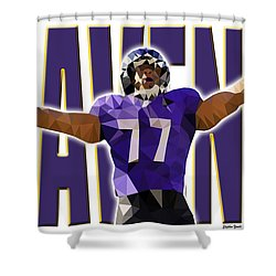 Shower Curtain featuring the digital art Baltimore Ravens by Stephen Younts