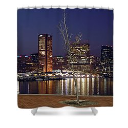 Shower Curtain featuring the photograph Baltimore Reflections by Brian Wallace