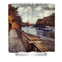 Balustrades And Boats Shower Curtain
