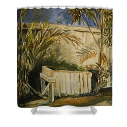 Bamboo And Herb Garden Shower Curtain