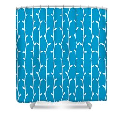Shower Curtain featuring the digital art Bamboo Pattern - Choose Your Color by Mark E Tisdale