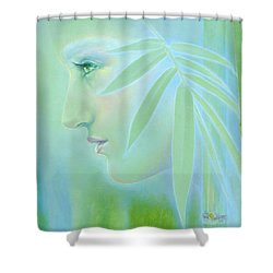Shower Curtain featuring the painting Bamboo by Ragen Mendenhall