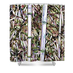 Bamboo Stalks Shower Curtain by Lanjee Chee