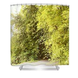 bambu en Limani, Adjuntas Shower Curtain