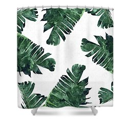 Banan Leaf Watercolor Shower Curtain
