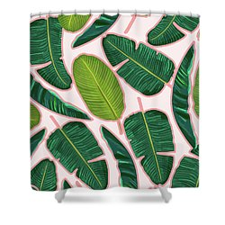 Banana Leaf Blush Shower Curtain