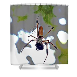 Banana Spider Lunch Time 1 Shower Curtain