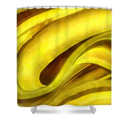 Banana With Chocolate Shower Curtain