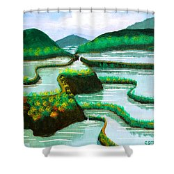 Banaue Shower Curtain