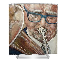 Band Man Shower Curtain by Marty Garland