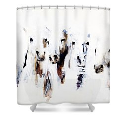 Band On The Run Shower Curtain by Frances Marino