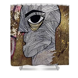 Bandage Man Shower Curtain