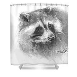 Bandit The Raccoon Shower Curtain