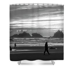 Bandon Beachcombers Shower Curtain