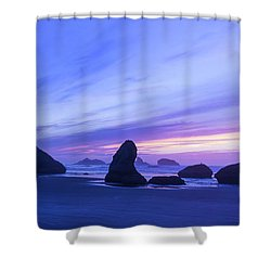 Bandon Blue Hour Shower Curtain