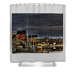 Shower Curtain featuring the photograph Bandon Boat Basin At Dawn by Thom Zehrfeld