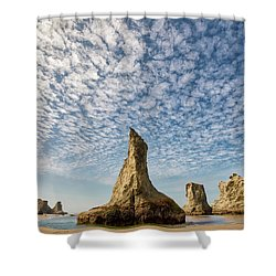 Bandon Sea Stacks Shower Curtain