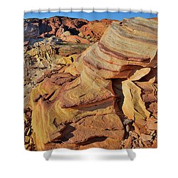 Bands Of Colorful Sandstone In Valley Of Fire Shower Curtain