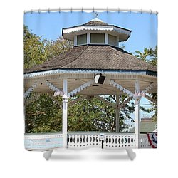 Bandshell In Plymouth, Mass Shower Curtain by Rod Jellison