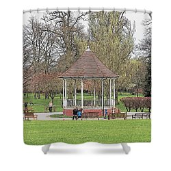 Bandstand Games Shower Curtain