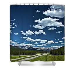 Banff Junction Shower Curtain