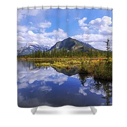 Shower Curtain featuring the photograph Banff Reflection by Chad Dutson