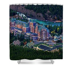 Banff Springs Hotel Shower Curtain by John Poon