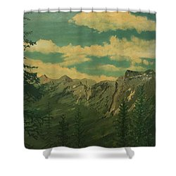 Shower Curtain featuring the painting Banff by Terry Frederick
