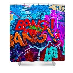Bang Graffiti Nyc 2014 Shower Curtain by Joan Reese