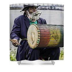 Bang That Drum Shower Curtain