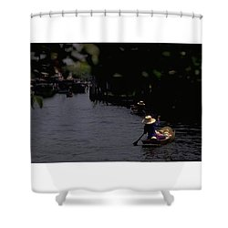 Bangkok Floating Market, Thailand Shower Curtain